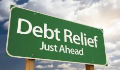 debt relief billboard